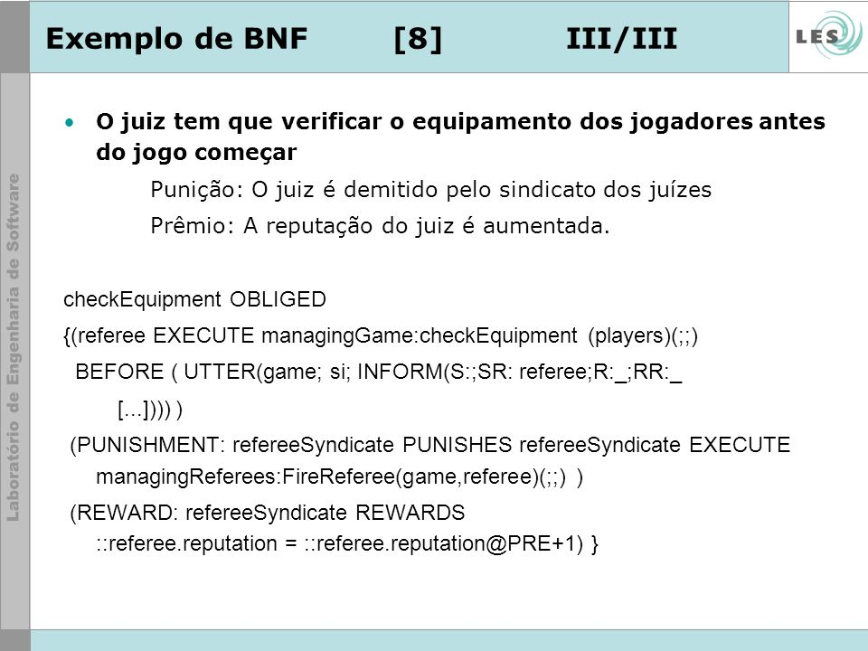 Exemplo de BNF [8] III/III